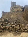Cae un muro de la iglesia de Malpica
